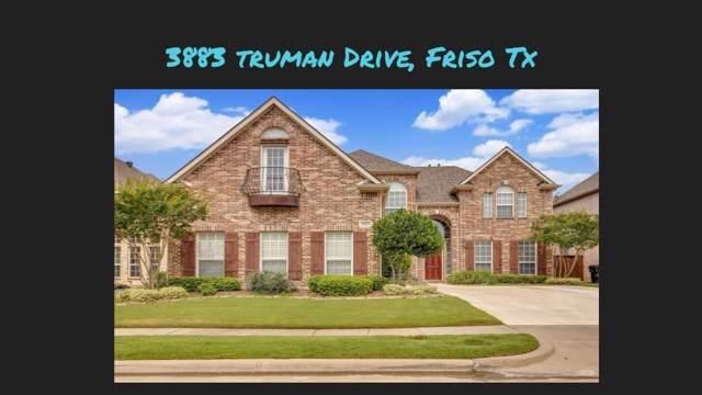 3883 Truman Drive, Frisco, TX 75034 (MLS #14241669) :: Hargrove Realty Group