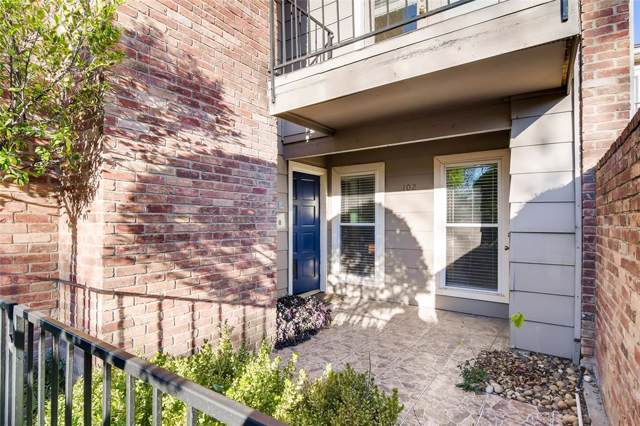 7510 Holly Hill Drive #102, Dallas, TX 75231 (MLS #14249907) :: The Hornburg Real Estate Group