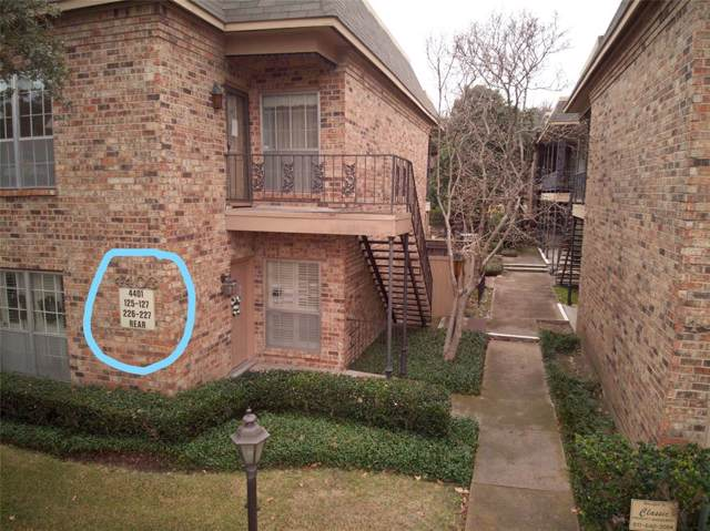 4401 Bellaire Drive S 126S, Fort Worth, TX 76109 (MLS #14249919) :: The Hornburg Real Estate Group