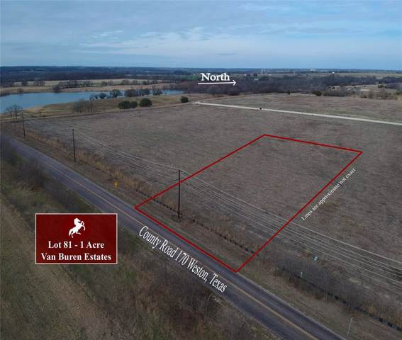 Lot 81 W Cottage Hill Parkway, Weston, TX 75009 (MLS #14252359) :: The Chad Smith Team