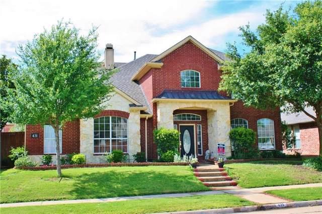 431 Rockcrest Drive, Coppell, TX 75019 (MLS #14253650) :: Team Hodnett