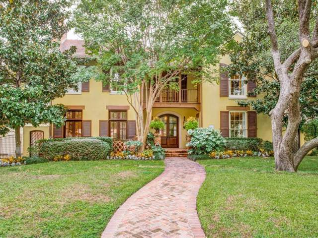 3612 Caruth Boulevard, University Park, TX 75225 (MLS #14256744) :: Ann Carr Real Estate