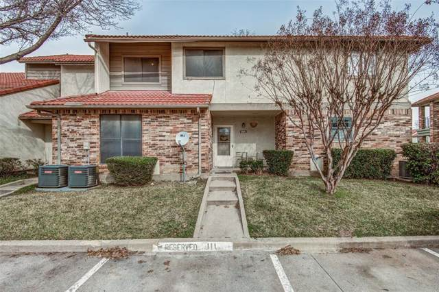 1025 Turtle Lake Boulevard #111, Irving, TX 75060 (MLS #14259354) :: RE/MAX Pinnacle Group REALTORS
