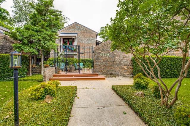 4239 Mckinney Avenue #203, Dallas, TX 75205 (MLS #14259475) :: RE/MAX Landmark