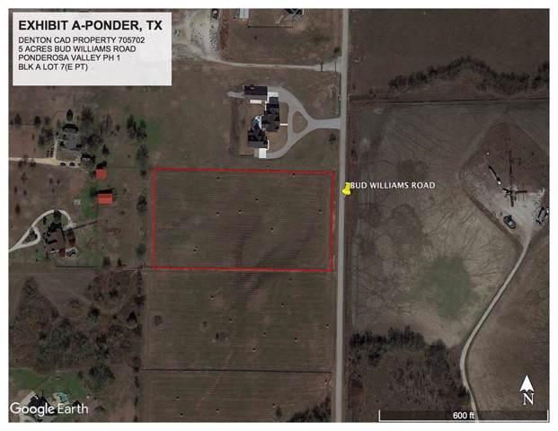 TBD Bud Williams Road, Ponder, TX 76259 (MLS #14260444) :: The Real Estate Station