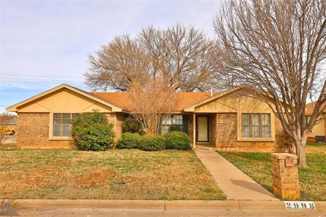 2998 Rex Allen Drive, Abilene, TX 79606 (MLS #14260696) :: The Mitchell Group