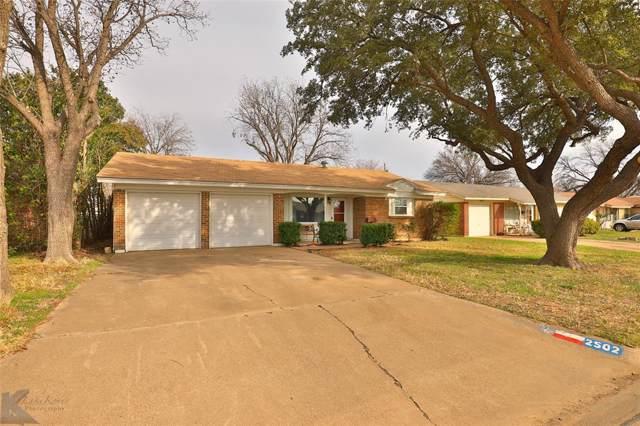 2502 S 41st Street, Abilene, TX 79605 (MLS #14260705) :: The Mitchell Group