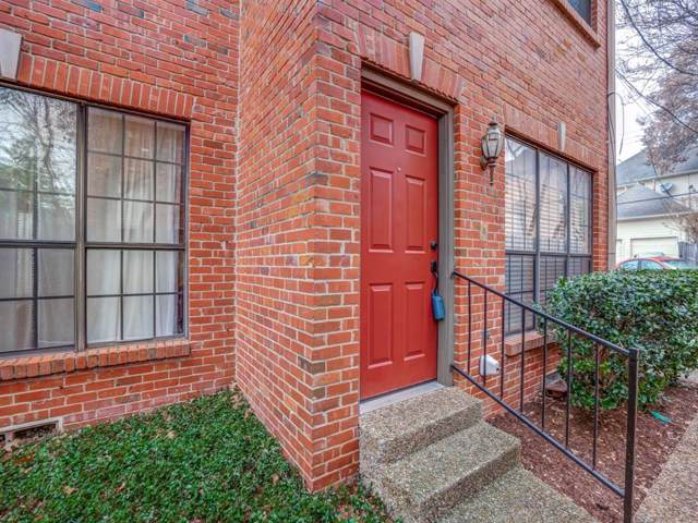 3416 Normandy Avenue #15, University Park, TX 75205 (MLS #14261096) :: Robbins Real Estate Group