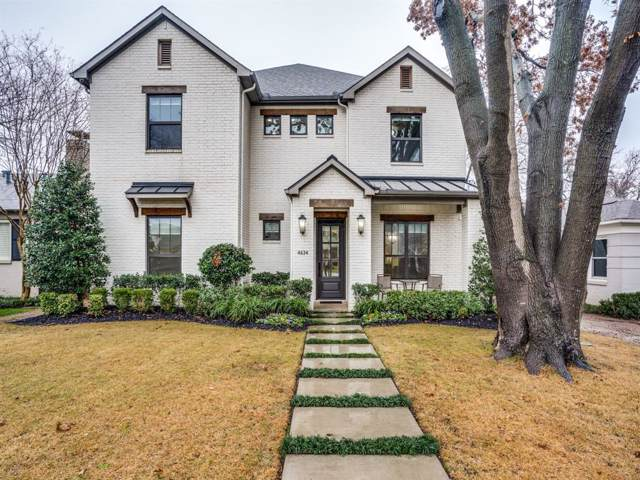 4634 W Amherst Avenue, Dallas, TX 75209 (MLS #14261382) :: The Kimberly Davis Group