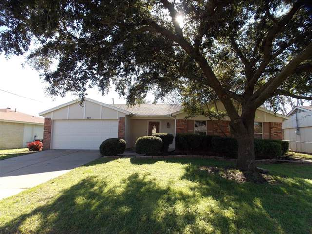 419 Parkview Drive, Burleson, TX 76028 (MLS #14262975) :: The Hornburg Real Estate Group