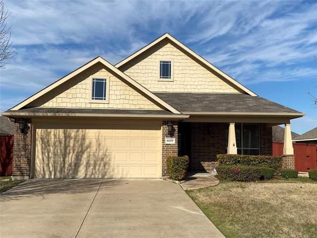 4609 Sailboat Drive, Mansfield, TX 76063 (MLS #14267292) :: Frankie Arthur Real Estate