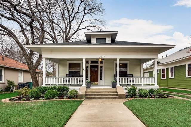 2233 Fairmount Avenue, Fort Worth, TX 76110 (MLS #14268926) :: Caine Premier Properties