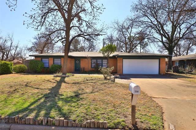 3341 Rosedale Drive, Abilene, TX 79605 (MLS #14269125) :: Century 21 Judge Fite Company