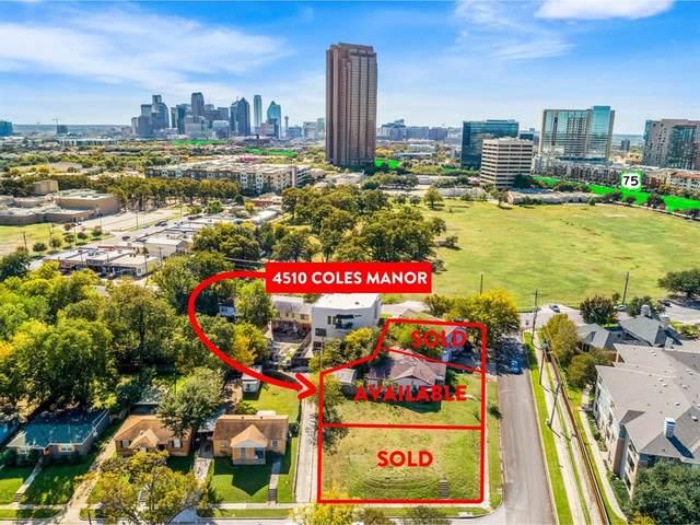 4510 Coles Manor Place, Dallas, TX 75204 (MLS #14292190) :: Century 21 Judge Fite Company