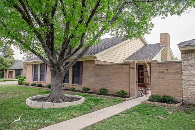 915 Ruswood Circle, Abilene, TX 79601 (MLS #14313804) :: Ann Carr Real Estate
