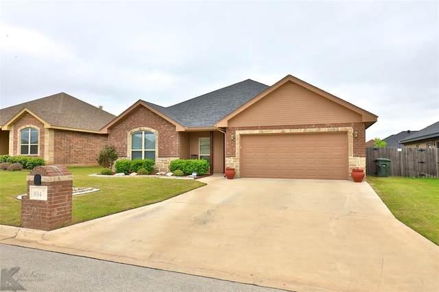 834 Great Waters Drive, Abilene, TX 79602 (MLS #14317274) :: Ann Carr Real Estate
