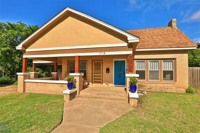 1718 Belmont Boulevard, Abilene, TX 79602 (MLS #14356038) :: The Good Home Team