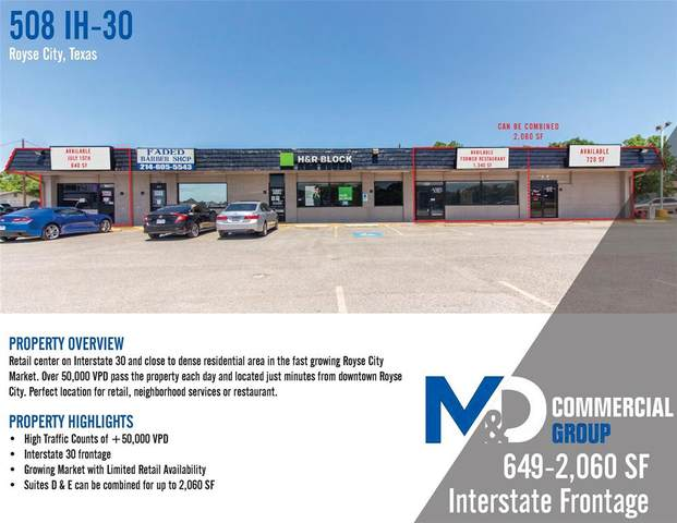 508 E I30 A, Royse City, TX 75087 (MLS #14384161) :: Hargrove Realty Group