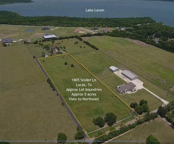 1805 Snider Lane, Lucas, TX 75002 (MLS #14407033) :: Lyn L. Thomas Real Estate | Keller Williams Allen