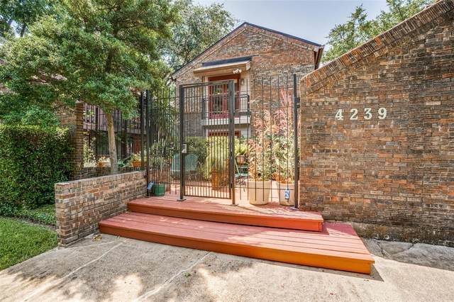 4239 Mckinney Avenue #107, Dallas, TX 75205 (MLS #14409745) :: Maegan Brest | Keller Williams Realty