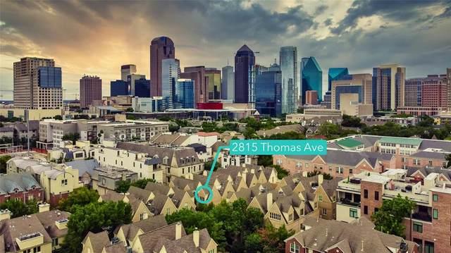 2815 Thomas Avenue, Dallas, TX 75204 (MLS #14439904) :: The Mitchell Group