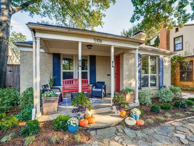 5106 Alcott Street, Dallas, TX 75206 (MLS #14451064) :: The Hornburg Real Estate Group