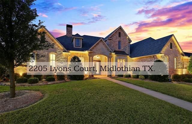 2205 Lyons Court, Midlothian, TX 76065 (MLS #14458614) :: Team Hodnett