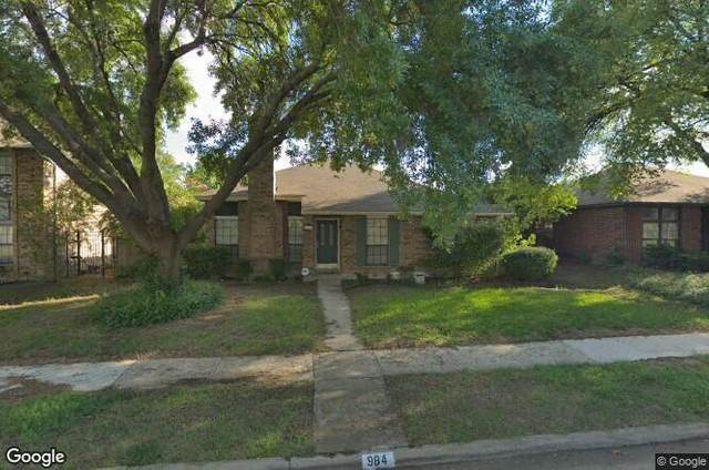 984 Downey Drive, Lewisville, TX 75067 (MLS #14502262) :: Post Oak Realty