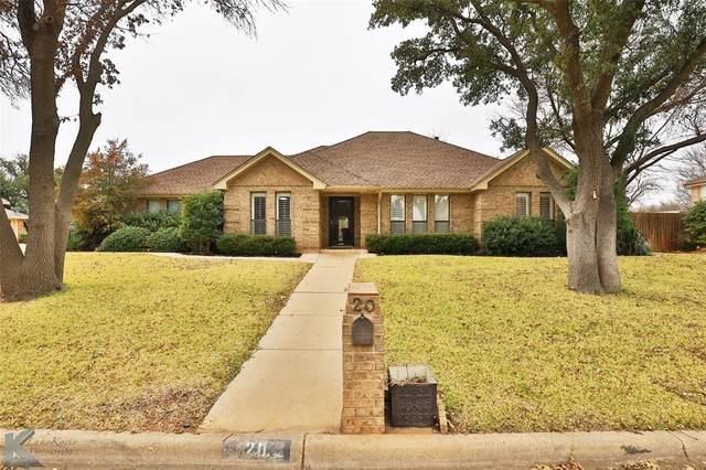 20 Hoylake Drive, Abilene, TX 79606 (MLS #14504508) :: Team Tiller