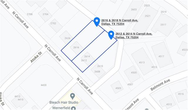 2614 N Carroll Avenue, Dallas, TX 75204 (MLS #14547679) :: Results Property Group