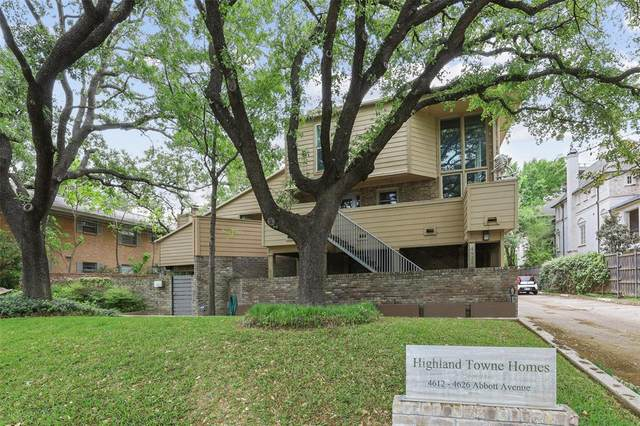 4616 Abbott Avenue B1, Highland Park, TX 75205 (MLS #14558380) :: The Juli Black Team