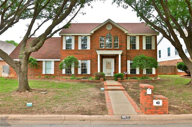 40 Pebble Beach Street, Abilene, TX 79606 (MLS #14563754) :: Premier Properties Group of Keller Williams Realty