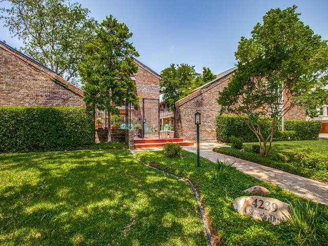 4239 Mckinney Avenue #106, Dallas, TX 75205 (MLS #14570145) :: RE/MAX Pinnacle Group REALTORS