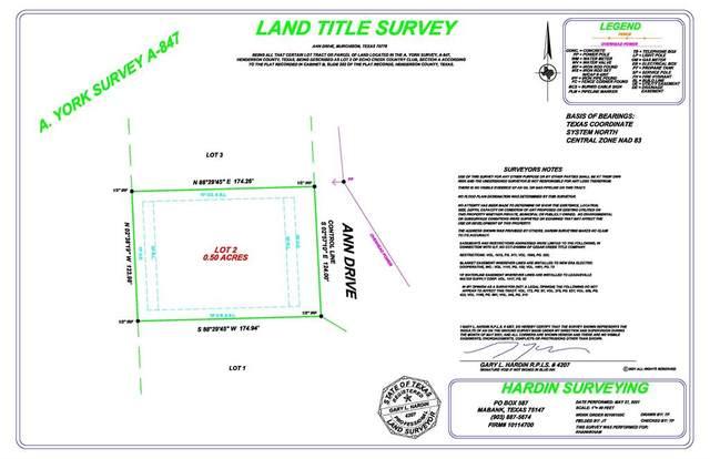 Lots2-3 Ann Drive, Murchison, TX 75778 (MLS #14612203) :: Real Estate By Design