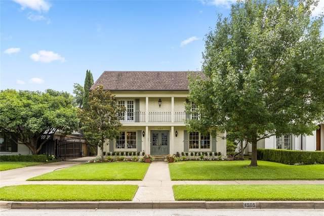4505 Southern Avenue, Highland Park, TX 75205 (MLS #14620053) :: The Hornburg Real Estate Group