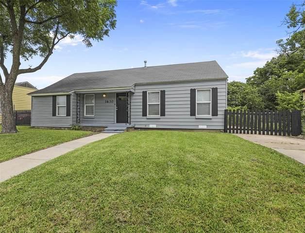 1630 Hickory Street, Grand Prairie, TX 75050 (MLS #14621924) :: The Krissy Mireles Team
