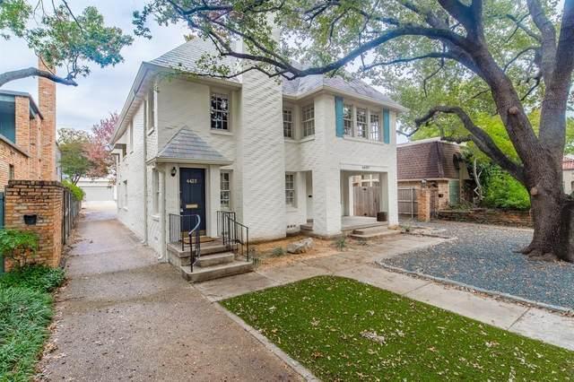 4420 Emerson Avenue, University Park, TX 75205 (MLS #14629929) :: The Hornburg Real Estate Group