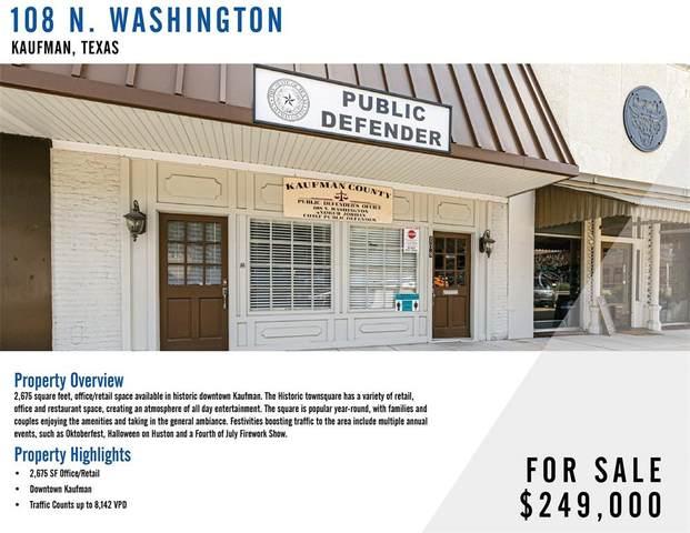 108 N Washington Street, Kaufman, TX 75142 (MLS #14661287) :: Trinity Premier Properties