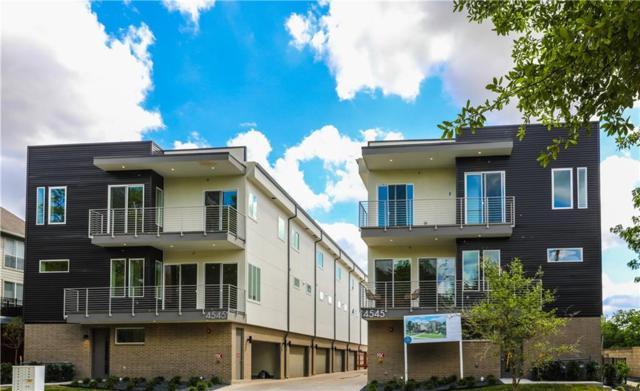4545 Bowser Avenue #202, Dallas, TX 75219 (MLS #13870029) :: The Hornburg Real Estate Group