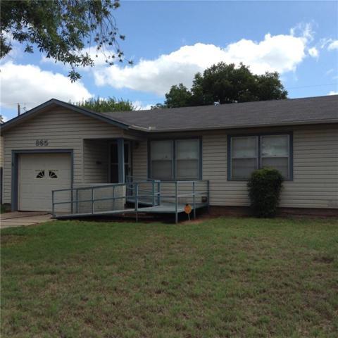 865 Burger Street, Abilene, TX 79603 (MLS #13917585) :: Century 21 Judge Fite Company