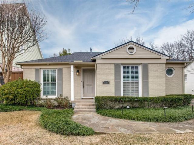 5719 W Hanover Avenue, Dallas, TX 75209 (MLS #14007034) :: Robbins Real Estate Group