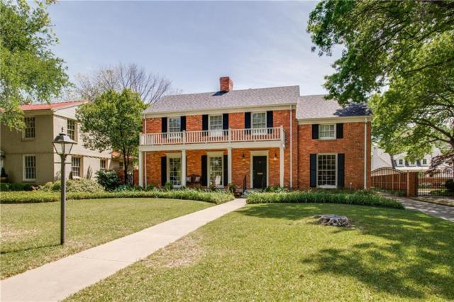 5434 W University Boulevard, Dallas, TX 75209 (MLS #14063571) :: RE/MAX Town & Country