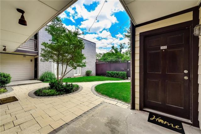 2722 Knight Street 101A, Dallas, TX 75219 (MLS #14111845) :: Van Poole Properties Group