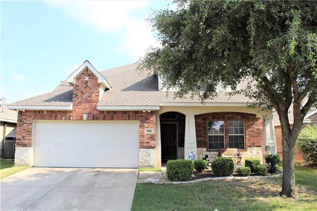 641 Hutchins Drive, Crowley, TX 76036 (MLS #14124659) :: The Mitchell Group