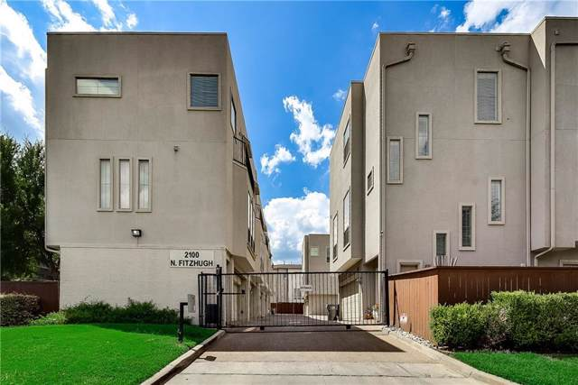 2100 N Fitzhugh Avenue M, Dallas, TX 75204 (MLS #14136335) :: Team Hodnett
