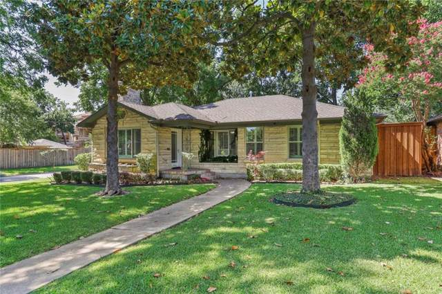 5503 Druid Lane, Dallas, TX 75209 (MLS #14138375) :: RE/MAX Town & Country