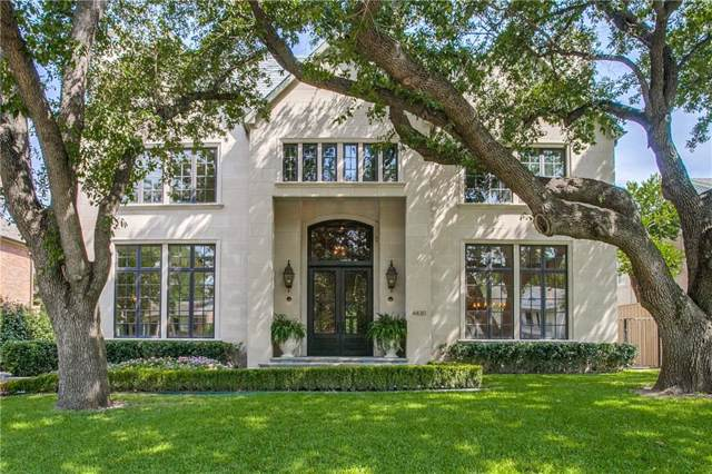 4430 Arcady Avenue, Highland Park, TX 75205 (MLS #14150841) :: Frankie Arthur Real Estate