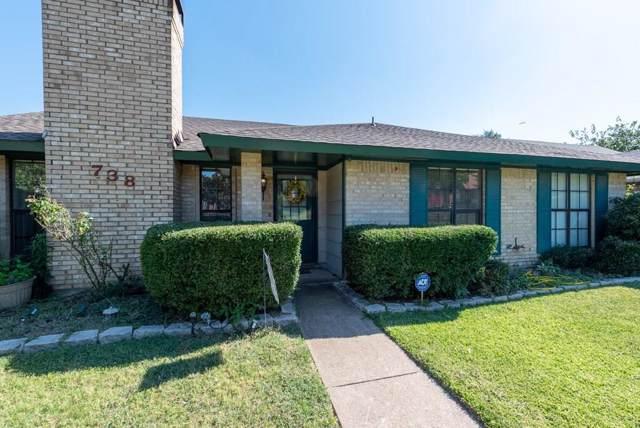 738 Holly Oak Drive, Lewisville, TX 75067 (MLS #14155424) :: Baldree Home Team