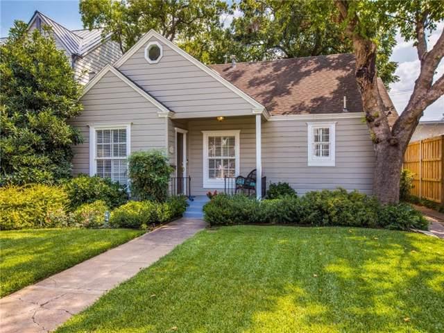 5110 W Amherst Avenue, Dallas, TX 75209 (MLS #14177093) :: Frankie Arthur Real Estate