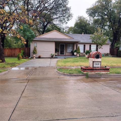 1505 Biggs Circle, Arlington, TX 76010 (MLS #14182618) :: RE/MAX Pinnacle Group REALTORS